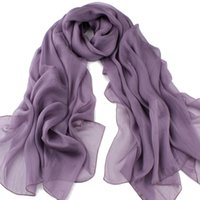 Wholesale Cheap Scarves China - silk scarf luxury scarves women solid color big size 180*110cm China top silk made scarf for women in fall winter spring good cheap price