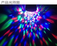 Wholesale E27 Colorful Rotating - E27 3W Colorful Rotating Party Light RGB 3 LED Spot Light Bulb Lamp Torch Lighting for Chrismas New