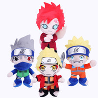 """Wholesale Plush Stuffed Naruto - Hot ! 2017 New 4pcs Lot Naruto Plush Doll Stuffed Toy For Child Best Gifts 9.5"""" 25cm"""