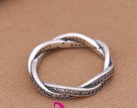 pandora zirkonoxid ring großhandel-Silberring mit Zirkonia Authentische 925 Sterling Silber Ringe Submit Kranz Fit für Pandora Charms Schmuck Frauen DIY Fingers Ring