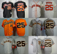 Wholesale Giants Rugby - san francisco giants #25 barry bonds 2015 Baseball Jersey Cheap Rugby Jerseys Authentic Stitched Free Shipping Size 48-56