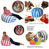 Wholesale Plush Beanbag - Kids Storage Bean Bags 60cm 33 colors Plush Toys Beanbag Chair Bedroom Stuffed Animal Room Mats Portable Clothes Storage Bag 20 pcs YYA813
