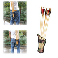 Wholesale Oxford Fabric Bow Arrows Holder Belt Arrow Quiver Tubes Strap Hunting Archery Accessories order lt no track