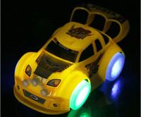 ingrosso auto da corsa per i bambini-Giocattoli per auto a LED Giocattoli illuminati a LED Automobili carine Colore diverso Bambini Regalo di Natale Modello di auto da corsa Illuminazione Riproduzione di musica Divertenti bambini che giocano giocattolo di sicurezza