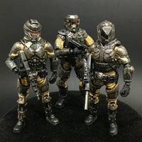 Wholesale Wood Toys Military - (3pcs lot) JOY TOY Military 1:27 Steel Ride Corps C Set Collection Action Figure for Decorate and Holiday Gift