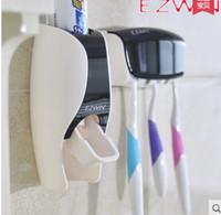 espremedor automático do distribuidor do dentífrico venda por atacado-EZWIN criativo creme dental pasta de dentes creme dental automático squeezer conjuntos de alta qualidade creme dental, suporte de escova de dentes Kit Poeira