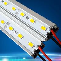 carcasa para tiras led al por mayor-Barra rígida de la secuencia de la barra 36-LED 12V LED de la barra de la secuencia de los 0.5m 5050 los 50cm LED con la aleación de aluminio Shell que contiene el CE RoHS