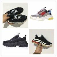 Wholesale Men S Bands - 2017 High Quality Unveils New Triple S Sneakers,High Fashion Spec Trainers,women&men Tripe-S retro Training Sneakers Shoes size 36-45