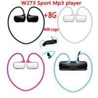 Wholesale sport mp3 player headphone 8gb resale online - High qualtiy W273 Sports Mp3 player headset GB Wireless Sweat band Walkman Running earphone Mp3 player headphone water proof free shiping