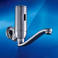 Wholesale Medical Faucet - wall mounted hands free faucet mixer medical automatic washer touchless faucet spout for clinic room