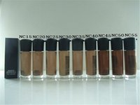 Wholesale Nw 15 - Brand Makeup MC A35 Liquid Foundation Matchmaster SPF 15 Foundation 35ML 9 NC And 9 NW Color For Chose