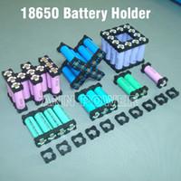 кронштейн аккумуляторной батареи оптовых-Бесплатная доставка 18650 держатель батареи Цилиндрический держатель батареи 18650 литиевые батареи держатель