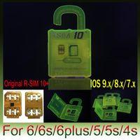 Wholesale Au Unlock - R SIM Newest version R SIM 10+ RSIM 10+ Rsim10+ Unlock Card for IPHONE 6s 6 5S 5 4S IOS8 ios9 ios9.1 ios9.0.1 ios9.0.2 3G 4G Sprint AU SB