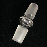 18.8 mm erkek eklem camı donanımı toptan satış-18.8mm ortak cam bong kalın cam adaptörü standart boyut adaptörü ortak erkek kadın dönüştürücü su borusu için petrol kulesi