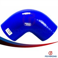"""Wholesale Silicone 76mm - PQY STORE-BLUE 3"""" 76mm 90 Degree Elbow Silicone Hose Pipe Turbo Intake PQY-SH9030"""
