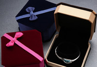 Discount jewellery box gifts - GiFTBOX DISPLAY BOX DECROATION luxury high quality flannel earing ring bracelet jewellery necklace gift bowknot boxes case packing display
