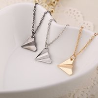 Wholesale Christmas Airplane - airplane Pendant necklaces band One Direction replica Origami Paper Plane Necklaces simple Fashion Jewelry women men china manufacturers