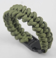 Wholesale Handmade Paracord Bracelets - 10pcs lot Mix Colors high quality New Unisex Handmade colorful Weave Paracord Bracelet with plastic free shipping