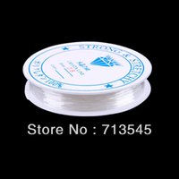 Wholesale Clear Elastic Cord - New Roll 0.8mm Clear Elastic Stretch Beading String Cord Wire Jewelry Making #40931