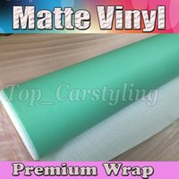 Wholesale cars wrapped matte blue - Matte Tiffany Blue Vinyl Car Wrap Film With Air release Matt Mint Vinyl For Vehicle Wrapping Stickers Foile 1.52x30m Roll (5ftx98ft)