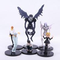 Wholesale Death Notes - Wholesale-6pcs set Anime Death Note L Killer Ryuuku Rem Misa Amane PVC Action Figures Toys
