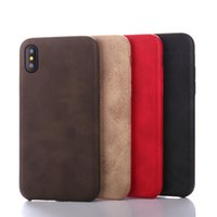 Wholesale Stitch Back Case - Phone Cases PU Business Stitching Soft Case Back Cover Case for iPhone 8 Plus iPhone X iPhone 6 7 Plus
