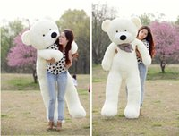 "Wholesale Bear Feet 12 - Wholesale-White TOYS 6 FEET BIG TEDDY BEAR STUFFED 5 Colors GIANT JUMBO 72"" size:180cm Embrace Bear Doll lovers christmas  birthday"