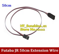 Cheap Universal Servo Extension Lead Wire Cable for Futaba JR RC Servo 500MM 50cm Free Shipping order<$18no track