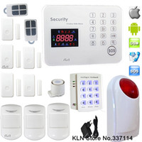 gran sistema de seguridad al por mayor-Sistema de alarma Gsm Alarma 120 Wireless 2 Zonas cableadas con Big Strobe Alarme Siren para Smart Home Security.