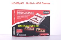 Wholesale Mini Tv Computer - HDMI AV Out Put Mini FC Video Game Console NES HD Edition Family Computer Built-in 600 Classic Games for Mini NES Classic Game Collection