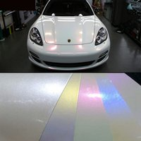 Wholesale Glossy Vinyl Fiber - 2015 hot sale 1.52x20m(5x65) glossy finish pearl white chameleon vinyl film air bubble free for vehicle full wraps 4 colors