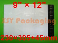 """Wholesale White Poly Shipping Mailers - Wholesale-100 NEW White Courier Mailing Bags 9"""" x 12""""_230 x 305+45mm Poly Shipping Mailers Pouches"""