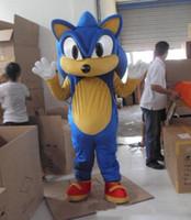 Wholesale Sonic Fancy Dress - 2018 Factory direct sale Professional Sonic Hedgehog Mascot Costume Fancy Dress Adult Size
