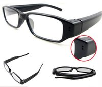 Wholesale Glass Hd Cam - New 007 Spy Glasses Camera Mini recorder Spy Cam HD Eyewear Video Recorder Hidden Camcorder DVR