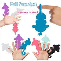 Wholesale Finger Function - stock Retail 6 COLOR Finger Monkey Toys With 40+ function Interactive Monkey Electronic Smart Touch Fingers Monkey Baby toy Gift
