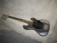 Wholesale MUSIC Bass Guitar Metal gray Strings Bass Electric Bass Guitar oem from China