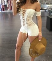 Sexy Women Elegant Dress Ladies Off Shoulder Slinky shorts sweater women rompers sweater