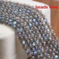 "Wholesale Labradorite Rounds - Pick Size 4.6.8 .10MM AAA Natural Labradorite Stone Round Loose Beads 15"" Strand Free Shipping-F00193"