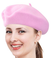 Wholesale Golf Candies - New arrive Spring Autumn woman Fashion Wool beret hat Princess hat Girls Candy-colored beret Free shipping