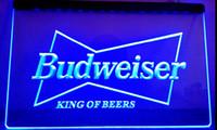 Wholesale Budweiser Led Sign - LS033-b Budweiser King Beer Bar Pub Club LED Neon Light Sign