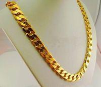 Wholesale Healthy Fashion - 108g 18k GP MaleCuban Link Necklace Width: 12 mm Fashion Necklace