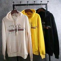 Wholesale Yellow Sweat Shirt - 2018 new style free shipping thickening Autumn Winter Men Women's Sweatshirt Print Stylish Sweat Shirts Hip Hop Hoodies Sportswear