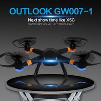 Wholesale Upgade version GW007 Camera Drone RC Quadcopter GHZ CH Axis Drones Remote Control Helicopter with MP HD Camera