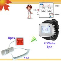 Wholesale Hospital nurse call system K plus wrist watches w K F2 call button from cord Call Cancel