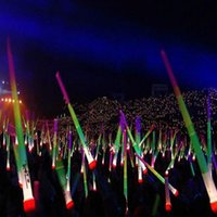Wholesale Prop Plastic Sword - Telescopic LED Glow Stick Flash Light Toy Fluorescent Sword Concert Christmas Carnival Toys LED Light Sticks Luminous Sticks LED Cheer Props