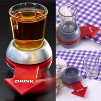 Wholesale New Novelty Items - 2017 New Funny Spin The Shot Arrow Turntable Novelty Shot Drinking Game with Spinning Wheel Funny Party Item Free DHL XL-426
