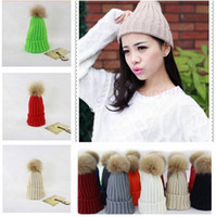 Wholesale Wholesale Novelty Candy Free Shipping - Newest Brand Winter Hat Women's Candy Beanie Thicking Knitted Caps High Quality Cute Casual Crochet Hats Free Shipping 9 STYLES 01192