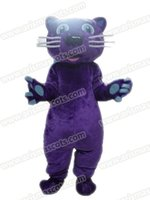 Wholesale Cat Mascot Costume Fancy Dress - AM9201 purple cat mascot costume Fur mascot suit animal mascot outfit adult fancy dress