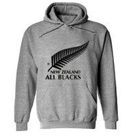 Wholesale Male Clothes - 2016 new men brand New Zealand all black hoodies rugby jerseys sweatshirt male hooded sports clothing
