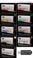 Wholesale E Cig V Core - 2015 Newest gs eGo twist II Mega kit with V-Core III GlassTank atomizers clearomizer and 2200mAh gs ego-II twist battery Best E Cig Kits